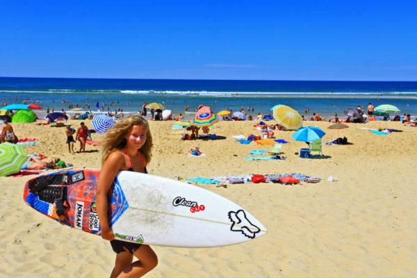 Cours de surf à Messanges-plage dans Les Landes