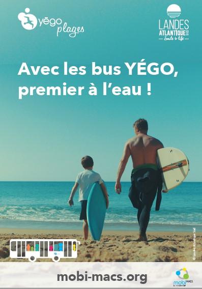 Yégo plage la navette des bus de Moliets Messanges Soustons Vieux Boucau Tyrosse Seignosse Hossegor Capbreton Labenne