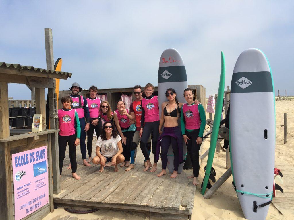 ecole de surf la dune messanges