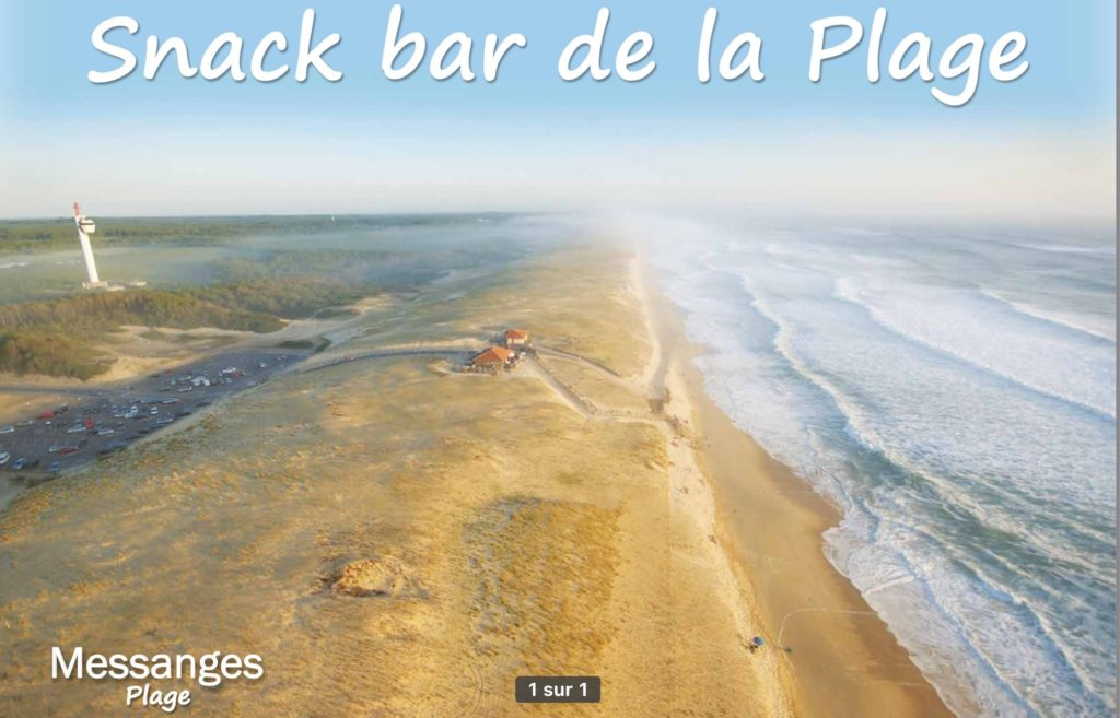 Snack Bar de la Plage-Messanges-OTI LAS